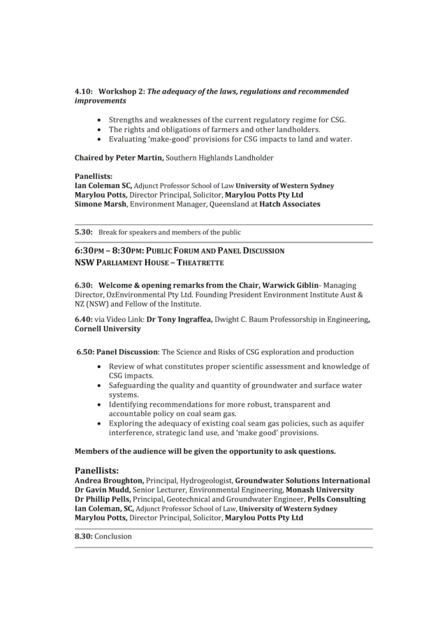 Coal Seam Gas Science Forum_Full Program
