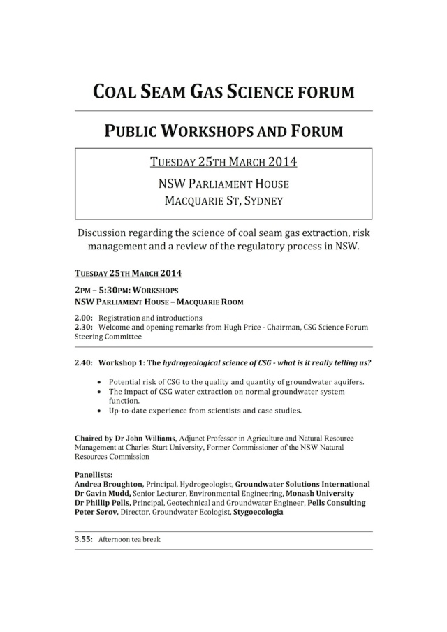 Coal Seam Gas Science Forum_Full Program_p1